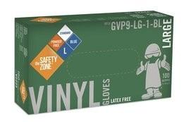 Safety Zone GVP9-1-BL 4 Mil Blue Vinyl Powder Free Gloves