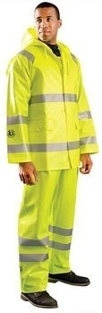 Occunomix Premium FR Hi Vis Rain Jacket- HRC 2- ANSI 3- LUX-TJR/FR