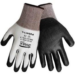 Global Glove PUG-411 Samurai Gloves - Tuffalene HDPE Shell - Black Polyurethane Dipped Palm