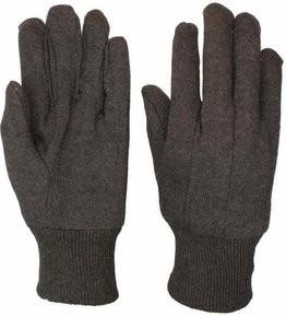 Safety Zone Brown Jersey Gloves