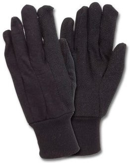 Safety Zone Dotted Brown Jersey Gloves