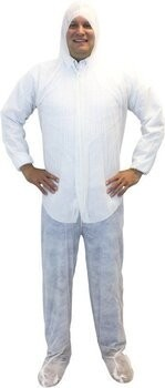 Safety Zone Polypropylene Coveralls with Hood, Boots and Elastic Wrists - DCWF