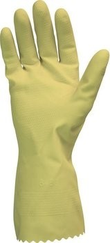 Safety Zone 12 Mil Yellow Flock Lined Gloves GRFY-2E