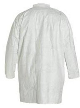 Dupont Tyvek TY210S White Frock with Collar and Open Wrists - No Pockets