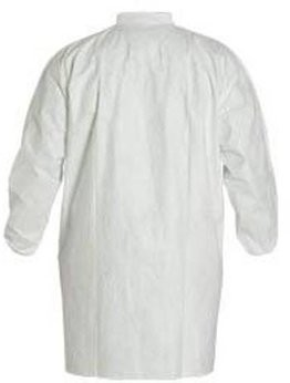 Dupont Tyvek TY211S White Frock with Collar and Elastic Wrists - No Pockets