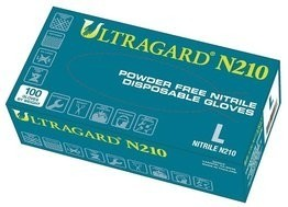 Ultragard N210 Blue 6 Mil Nitrile Industrial Powder Free Gloves