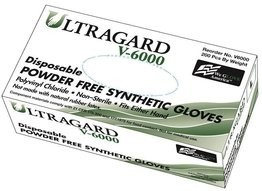 Ultragard V6000 3.5 Mil Vinyl Synthetic Powder Free Gloves - Double Case