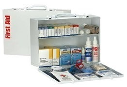 75 Person SmartCompliance 2 Shelf First Aid Metal Cabinet