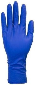 Safety Zone GRHL-5M-P 13 Mil Blue Latex Heavy Duty Powder Free Disposable Gloves