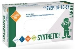 Safety Zone GVEP-1C-SY Stretch Vinyl Exam Powder Free Gloves