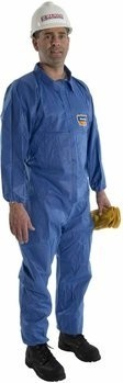 Majestic 74-201F FR BLAZETEX SMS Blue Coveralls with Elastic Wrists & Ankles