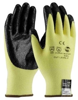 PIP G-Tek Kev 09-K1450 Nitrile Coated Smooth Grip Gloves