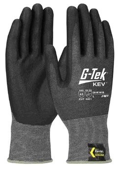 PIP G-Tek 09-K1618 Seamless Knit Kevlar/Nitrile Coated Cut Level 4 TouchScreen Gloves