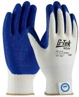 PIP G-Tek 3GX 19-D313 Dyneema Diamond Latex Coated Crinkle Grip Cut Level 4 Gloves