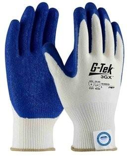 PIP G-Tek 3GX 19-D315 Dyneema Diamond Latex Coated Crinkle Grip Light Weight Cut Level 4 Gloves