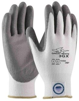 PIP G-Tek 3GX 19-D322 Great White Dyneema Diamond PU Coated Cut Level 3 Gloves