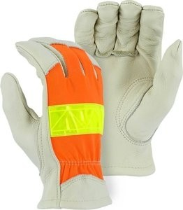 Majestic 1950 Hi Vis Cowhide Gloves