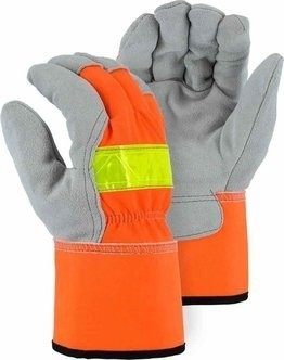 Majestic 1954T Thinsulate Hi-Vis Work Gloves with Split Leather
