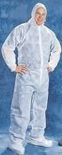 Tian's 200881 Polypropylene White Coveralls with Hood and Boots