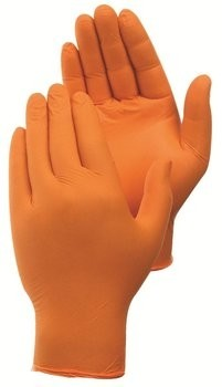 Duraskin 2010HO 4 Mil Orange Nitrile Powder Free Gloves