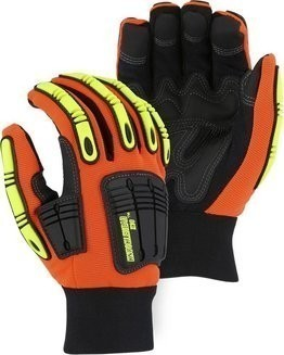Majestic 21243 Knucklehead Waterproof Hi Vis Gloves