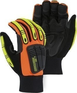 Majestic 21245 Knucklehead Kevlar Hi Vis Gloves