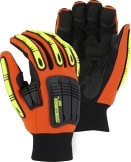 Majestic 21247 Knucklehead Waterproof Thinsulate Lined Hi Vis Gloves