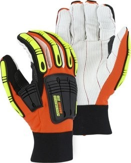 Majestic 21262HO Knucklehead Driller X10 Impact Gloves