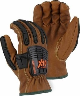 Majestic 21285WR Cut-less Full Hand Impact Protection Gloves - Cut Level 5