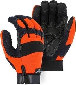 Majestic 2139 Hi Vis Armor Skin Reinforced Gloves