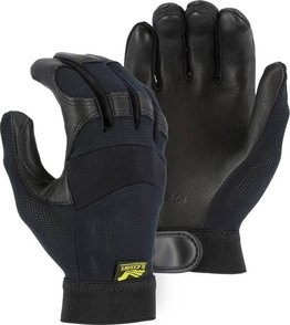 Majestic 2149 Black Hawk Gloves with Mesh Back