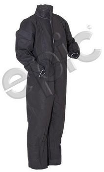 Tian's 215483 Polypropylene Gray Coveralls with Elastic Wrists