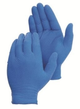 Duraskin 2816W Blue 5 Mil Latex Powder Free Gloves