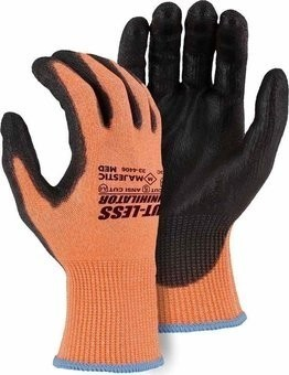 Majestic 33-4406 Hi Vis Cut-Less Annihilator Seamless Knit Gloves