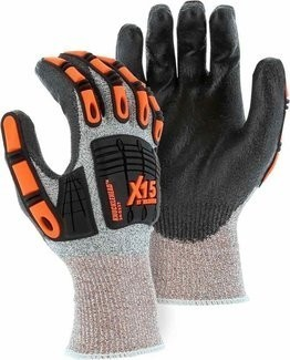 Majestic 34-5337 Knucklehead Impact Protection Dyneema Cut Resistant Gloves Cut Level 3