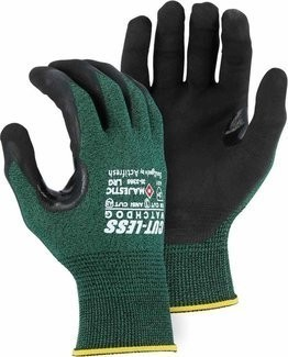 Majestic 35-3367 Cut-Less Watchdog® Glove with Micro Foam Nitrile Dotted Palm - Cut Level 3