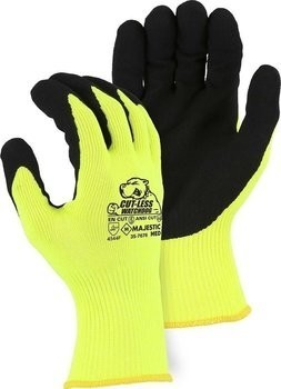 Majestic 35-7676 Cut-Less Watchdog Extreme Cut Resistant Level A6 Hi Vis Gloves