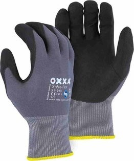 Majestic 51-290 OXXA Micro Foam Grip Nitrile Gloves- Compare to MaxiFlex 34-874