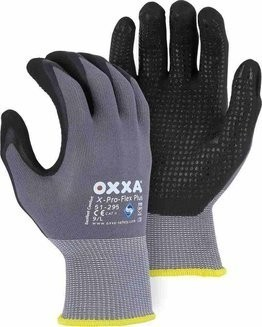 Majestic 51-295 OXXA X-PRO-FLEX PLUS Foam Nitrile Dotted Palm Gloves