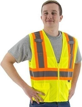 Majestic 75-3209 Hi-Vis Compliant Vest with Zipper - ANSI 2