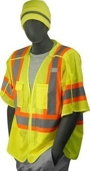 Majestic 75-3305/3306 Polyester Hi-Vis Mesh Vest with 5 Point Breakaway - ANSI 3