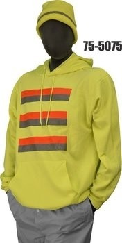 Majestic 75-5075/5076 Hi Vis Cotton/Poly Hooded Sweatshirt- NON ANSI