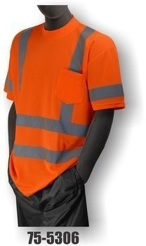 Majestic 75-5305/5306 Hi-Vis Short Sleeve Shirt w/ Pocket - ANSI 3