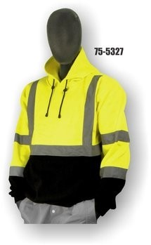 Majestic 75-5327/5328 Hi-Vis Sweatshirt with Pullover Hood - ANSI 3