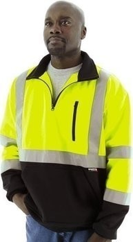 Majestic Hi-Vis ¼ Zip Sweatshirt with Teflon® Fabric Protector - ANSI 3