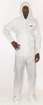 Enviroguard 8019 MicroGuard MP Coveralls with Hood & Boot, Elastic Wrist - Compare to Tyvek