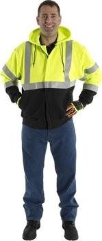9e454a1ac231 Majestic BlazeTex FR Hooded Zip-Up Sweatshirt - ANSI 3