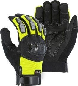 Majestic A2P23HY Alycore Hi Vis Knucklehead Cut Resistant Gloves Cut Level 5+