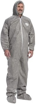 West Chester C3909 Posi M3 Gray Coveralls with Hood & Boot