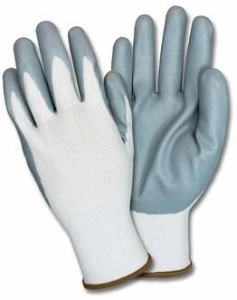 Safety Zone G-Nidex-GF Gray Nitrile Foam-Dipped Nylon Gloves